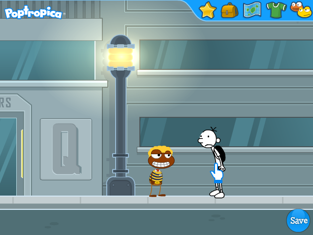 how to change your clothes on poptropica